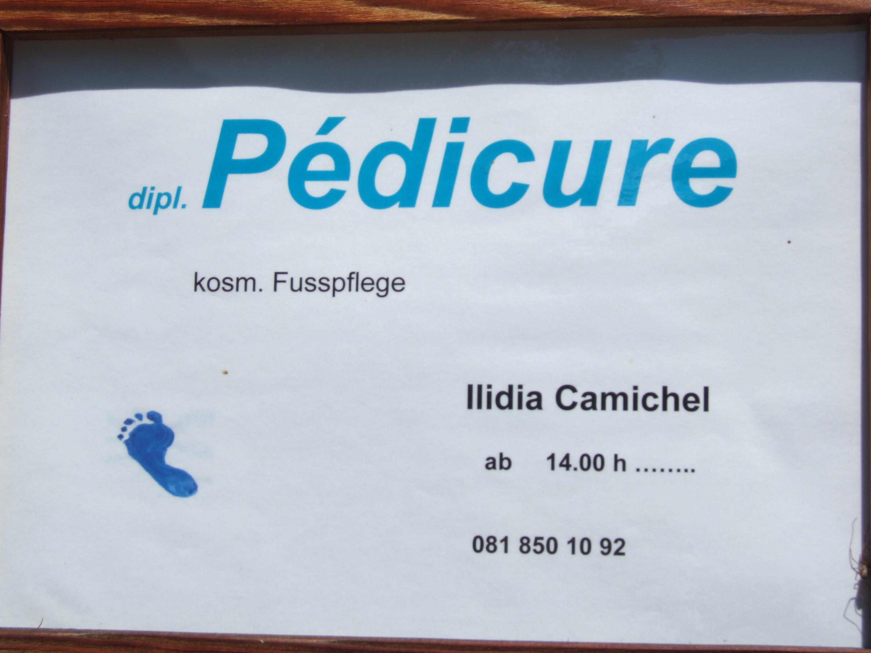 Ilidia Camichel Dipl. Pédicure Slide 1