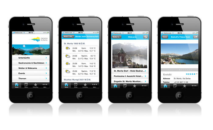 iPhone App von Engadin St. Moritz Slide 1