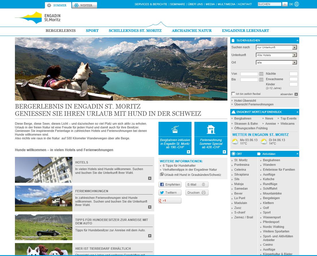 Engadin St. Moritz für Hundehalter Slide 1