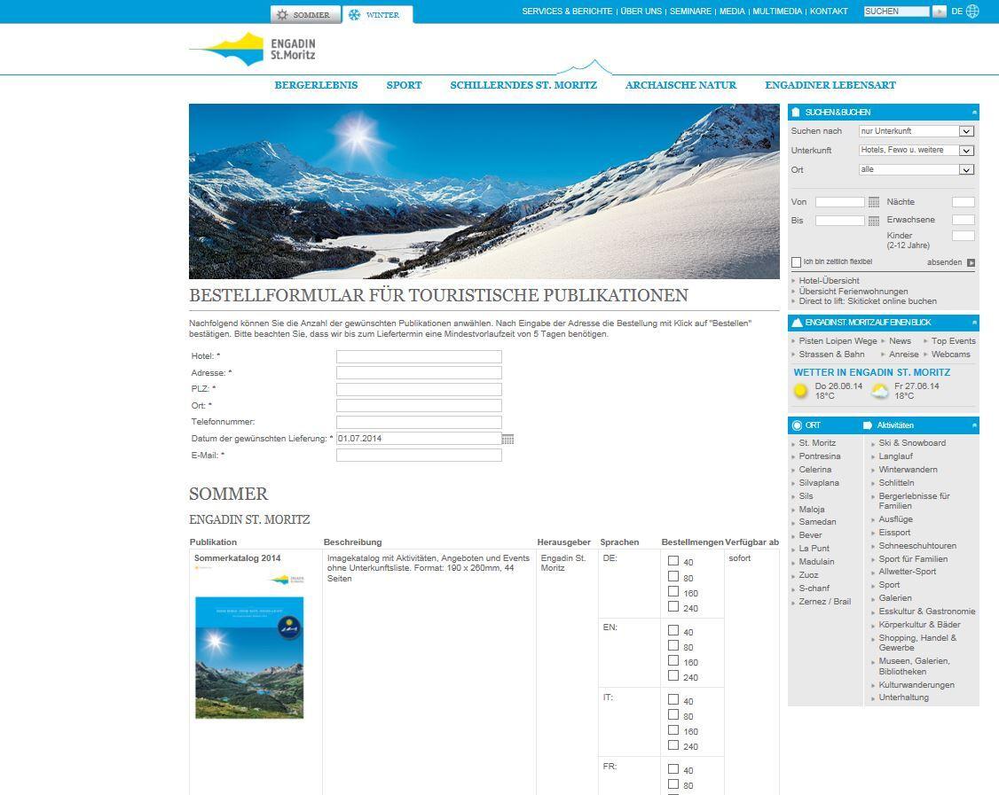 Link zur Bestellung von touristischen Publikationen Slide 1