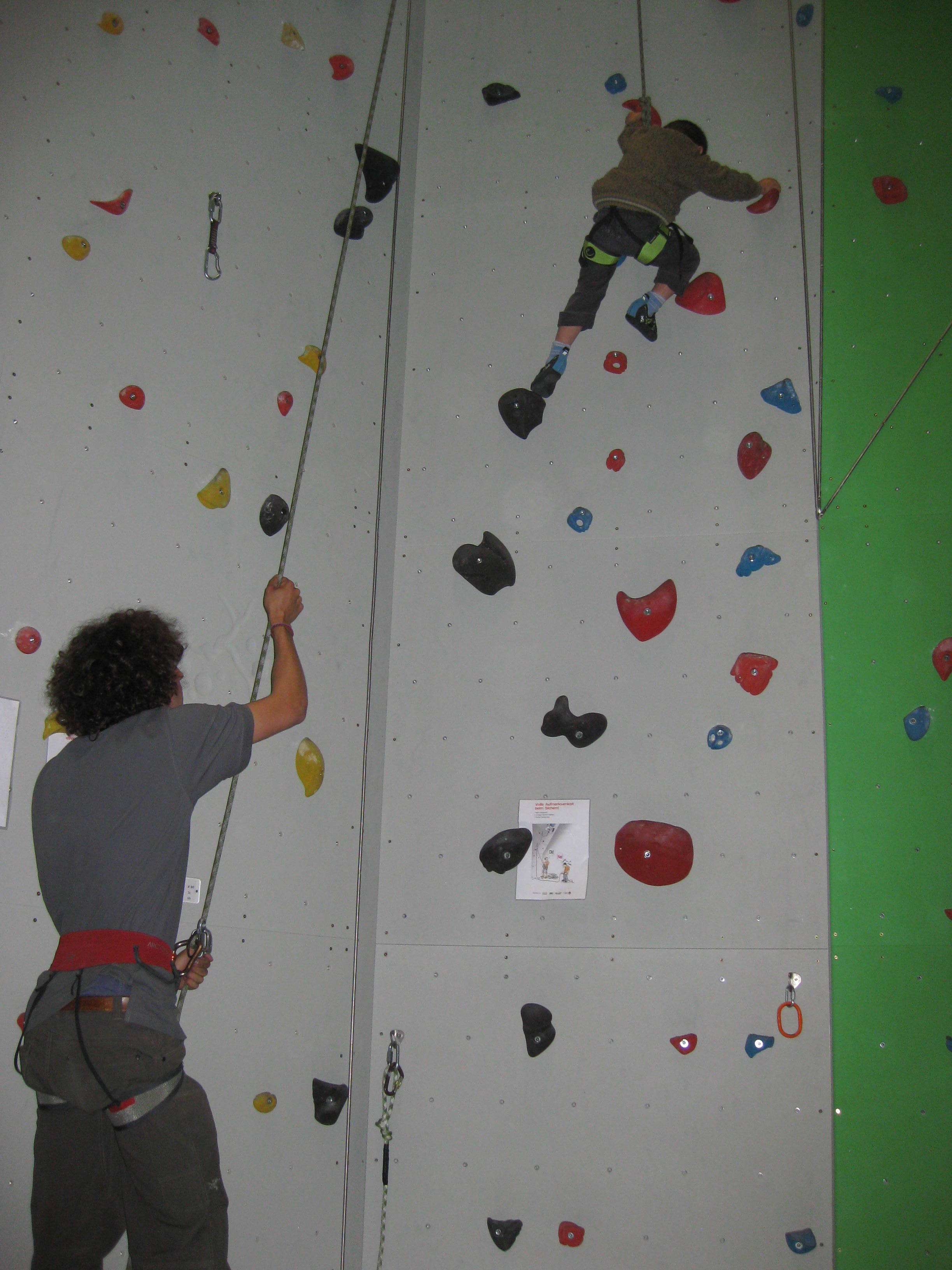 Climbing and Boulderhall Slide 1