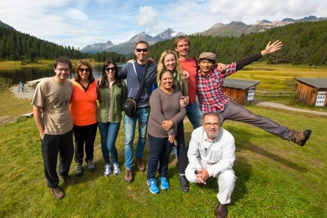 Journalisten aus neun Nationen im Oberengadin Slide 1