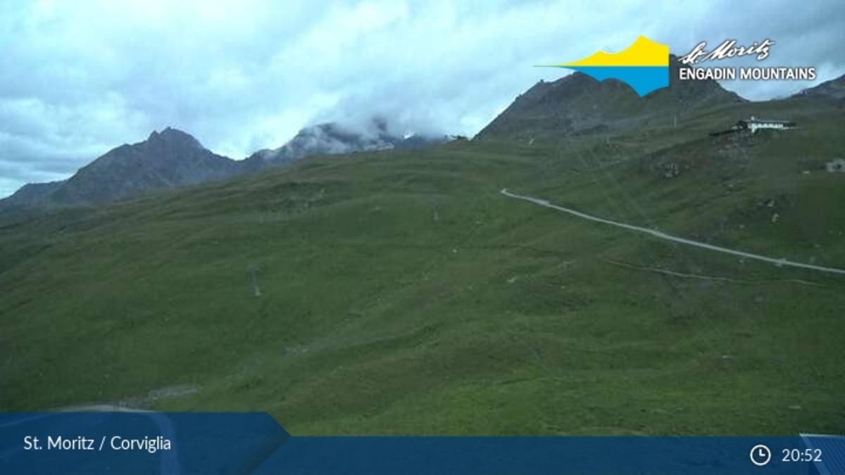 St. Moritz webcam - Corviglia Piz Nair