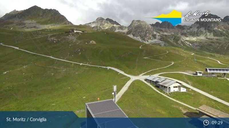 St. Moritz webcam - Corviglia snowpark