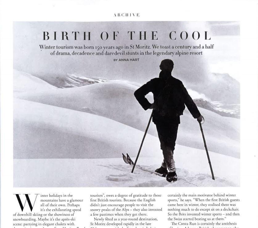 Nationale & internationale Media-Coverage zu «150 Jahre Wintertourismus» Slide 1