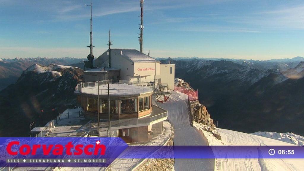Corvatsch 3303 m d'altitude