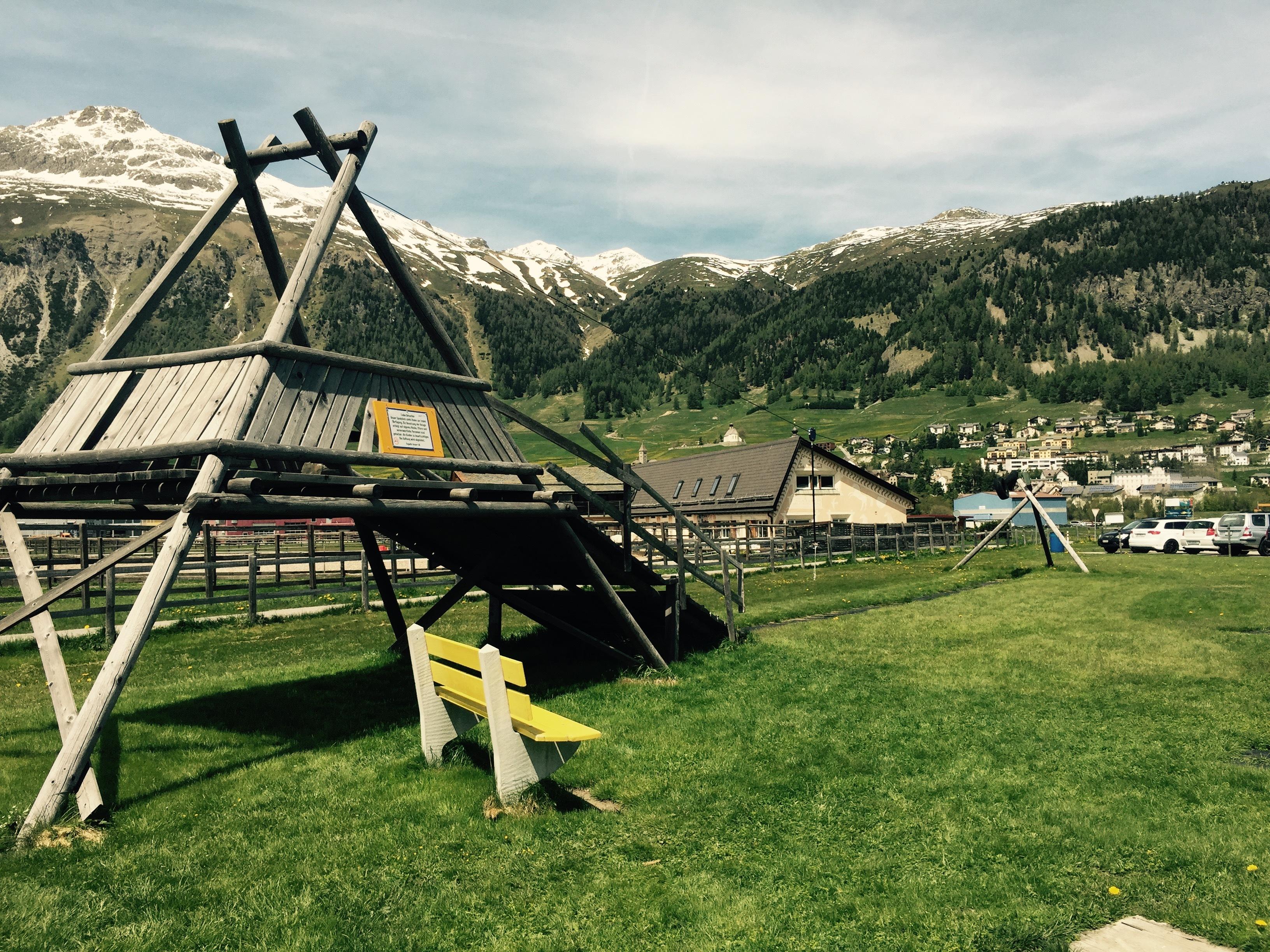 Kinderspielplatz Flugplatz Samedan Slide 1
