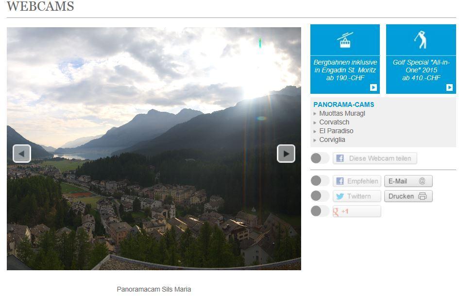 Prominente Einbindung der Panorama-Cams Slide 1