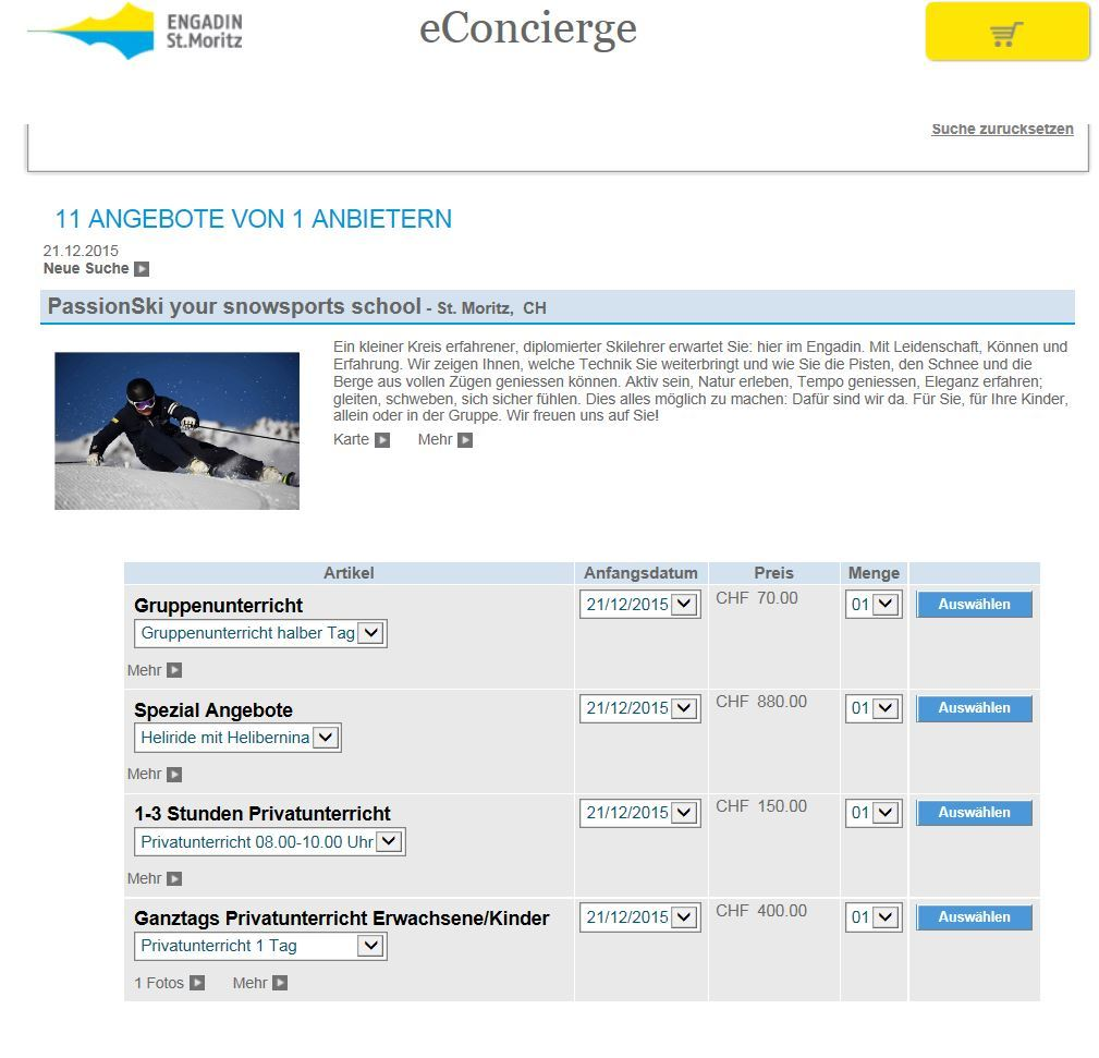 Neue eConcierge Winterprodukte Slide 1