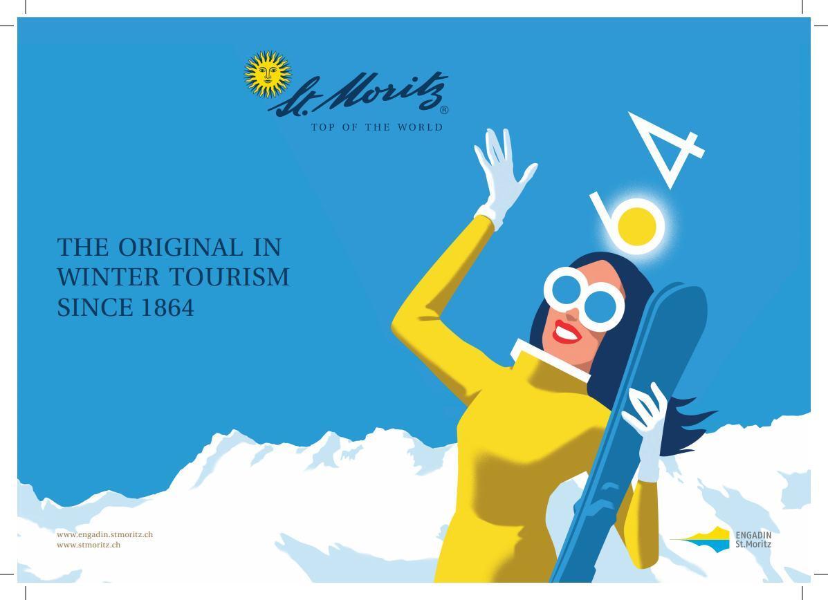 """Weiterentwicklung Sujet """"150 Jahre Wintertourismus"""" Slide 1"""