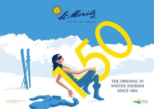 """Weiterentwicklung Sujet """"150 Jahre Wintertourismus"""" Slide 2"""