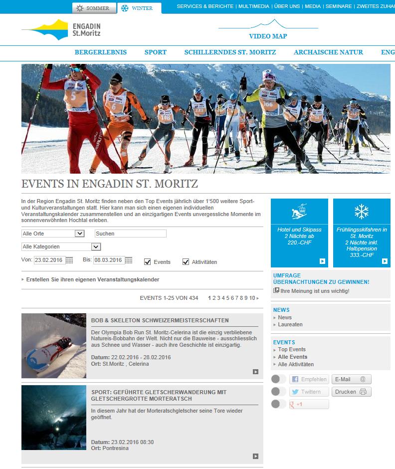 Events auf www.engadin.stmoritz.ch Slide 1