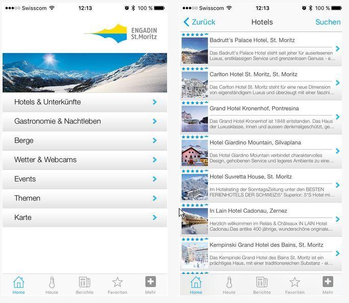 Engadin St. Moritz App Slide 1