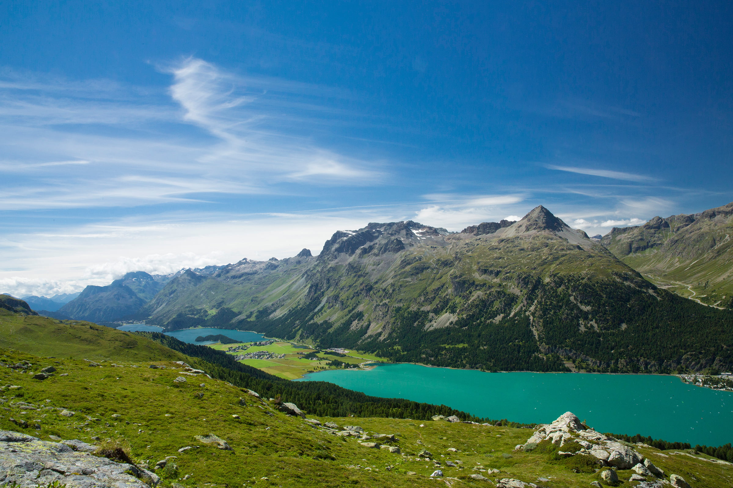 Lake Silvaplana and Lake Sils