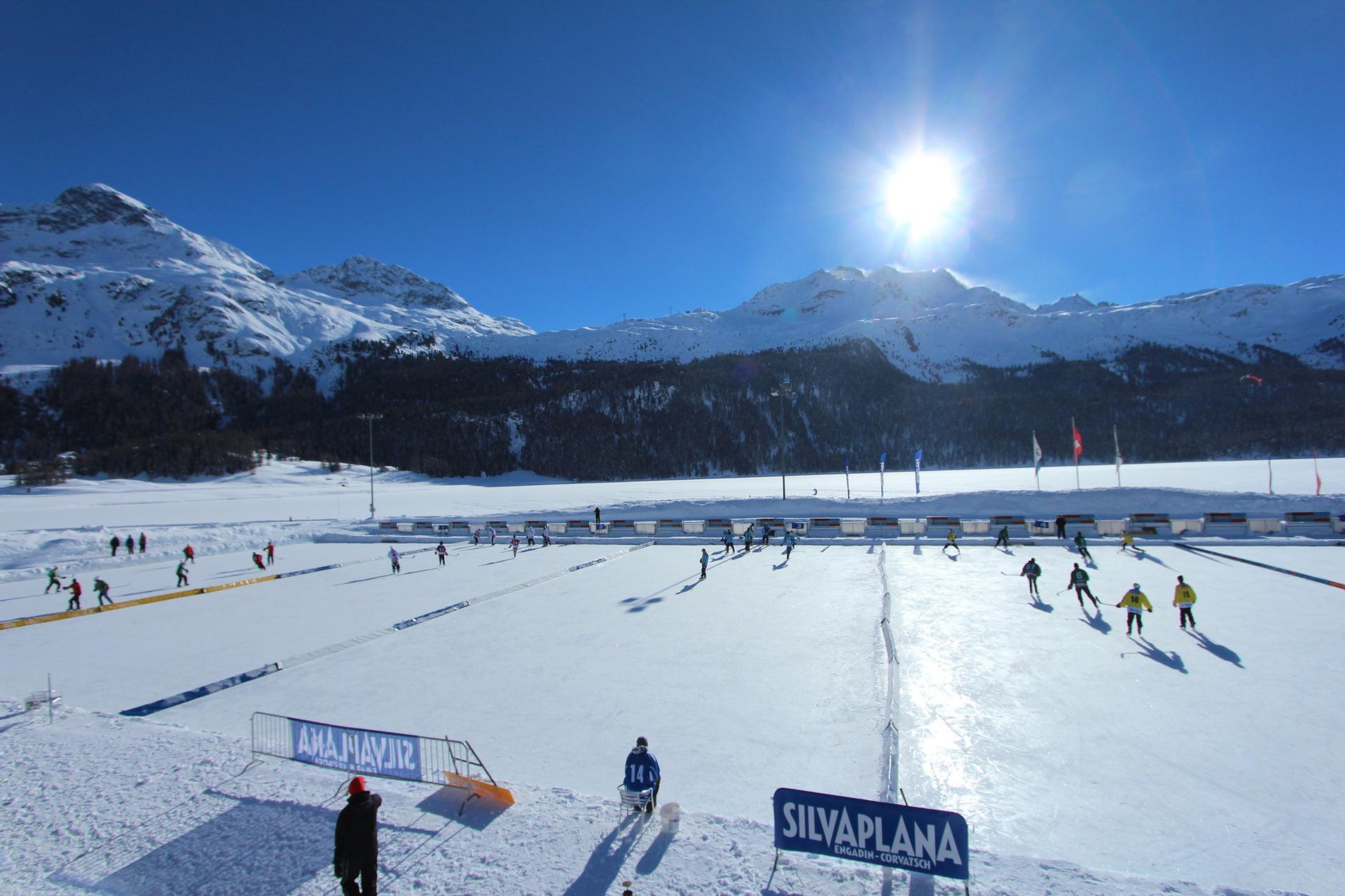ice sports winter in engadin st moritz