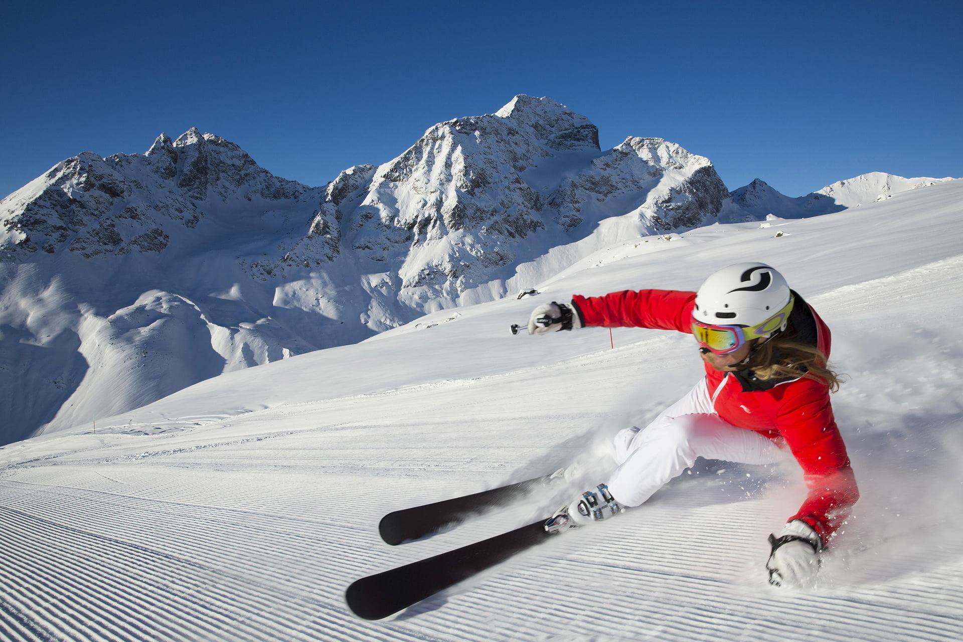 Corviglia Winter In Engadin St Moritz