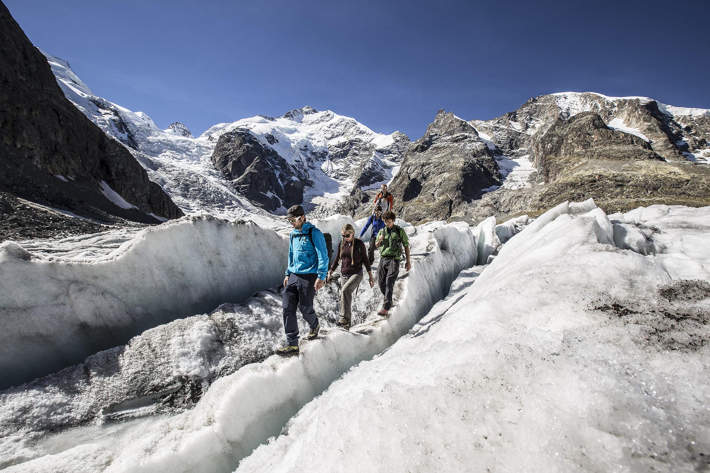 Gipfel, Gletscher, Glücksgefühle