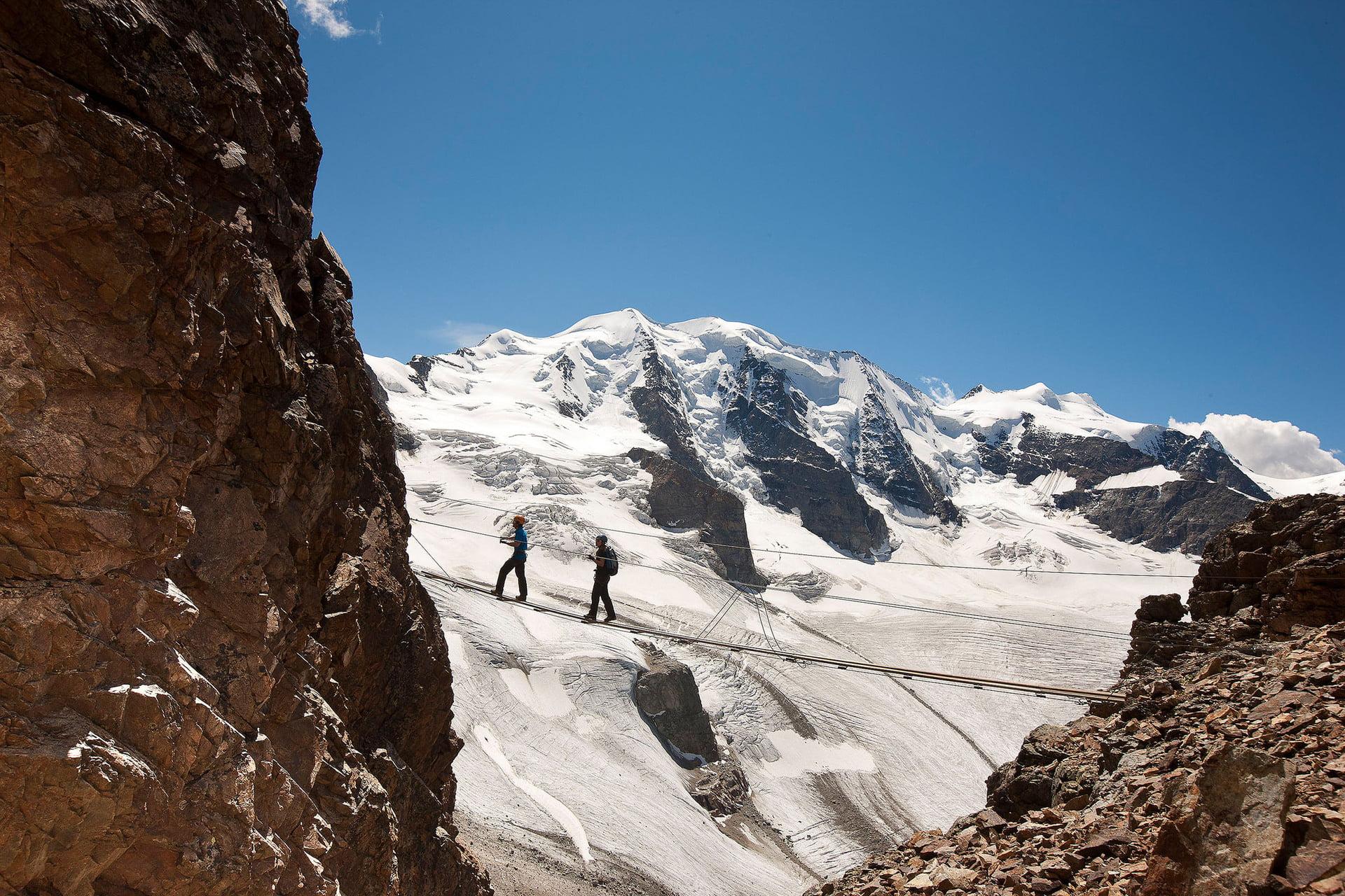 Klettersteig Piz Trovat : Klettersteig piz trovat i sommer in engadin st moritz