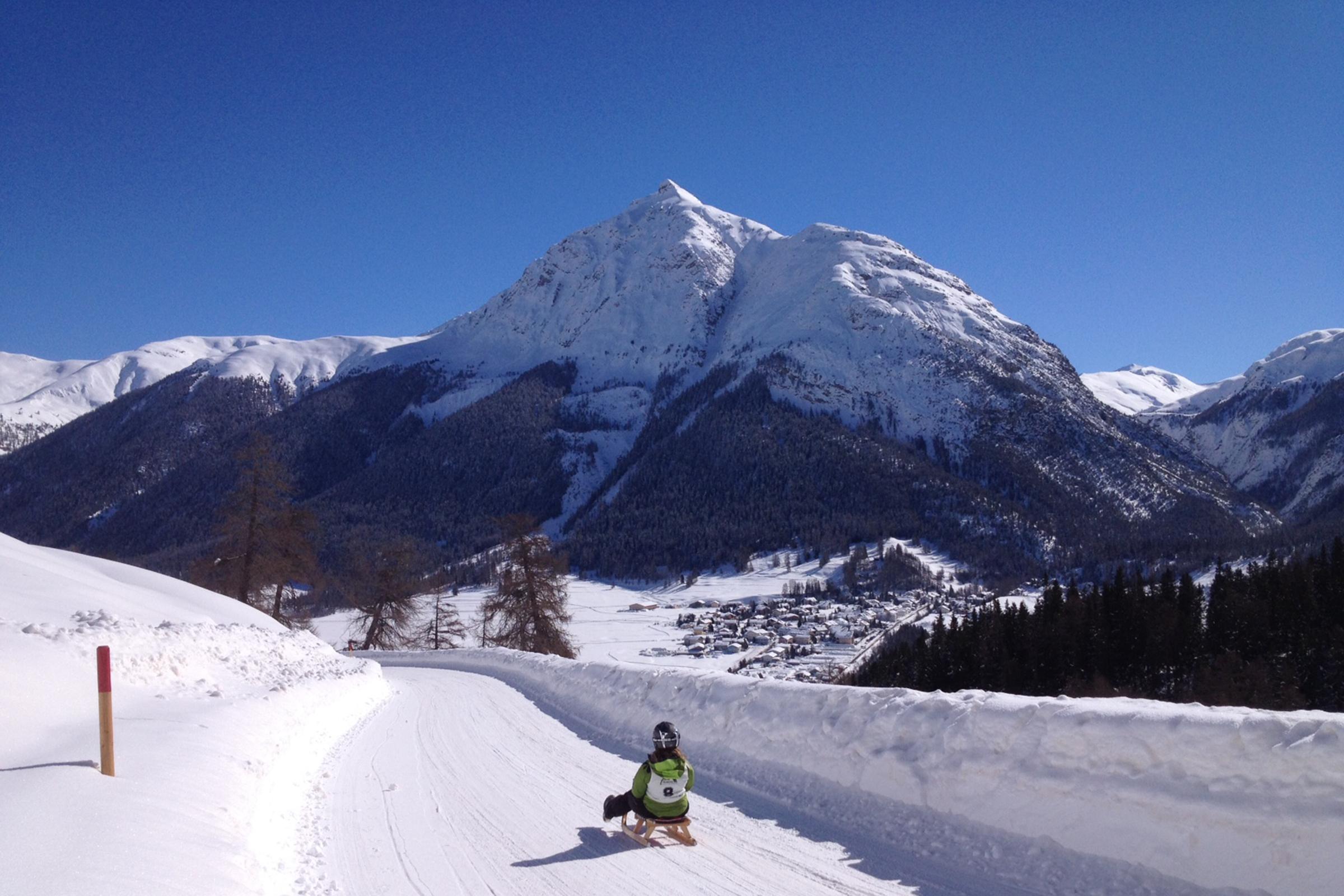 Albula Pass toboggan run