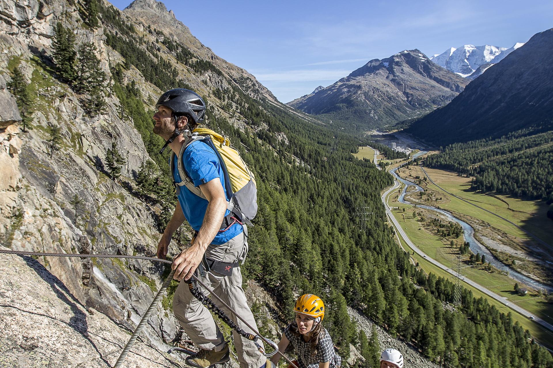 Klettersteig La Resgia : Klettersteig la resgia sommer in engadin st. moritz