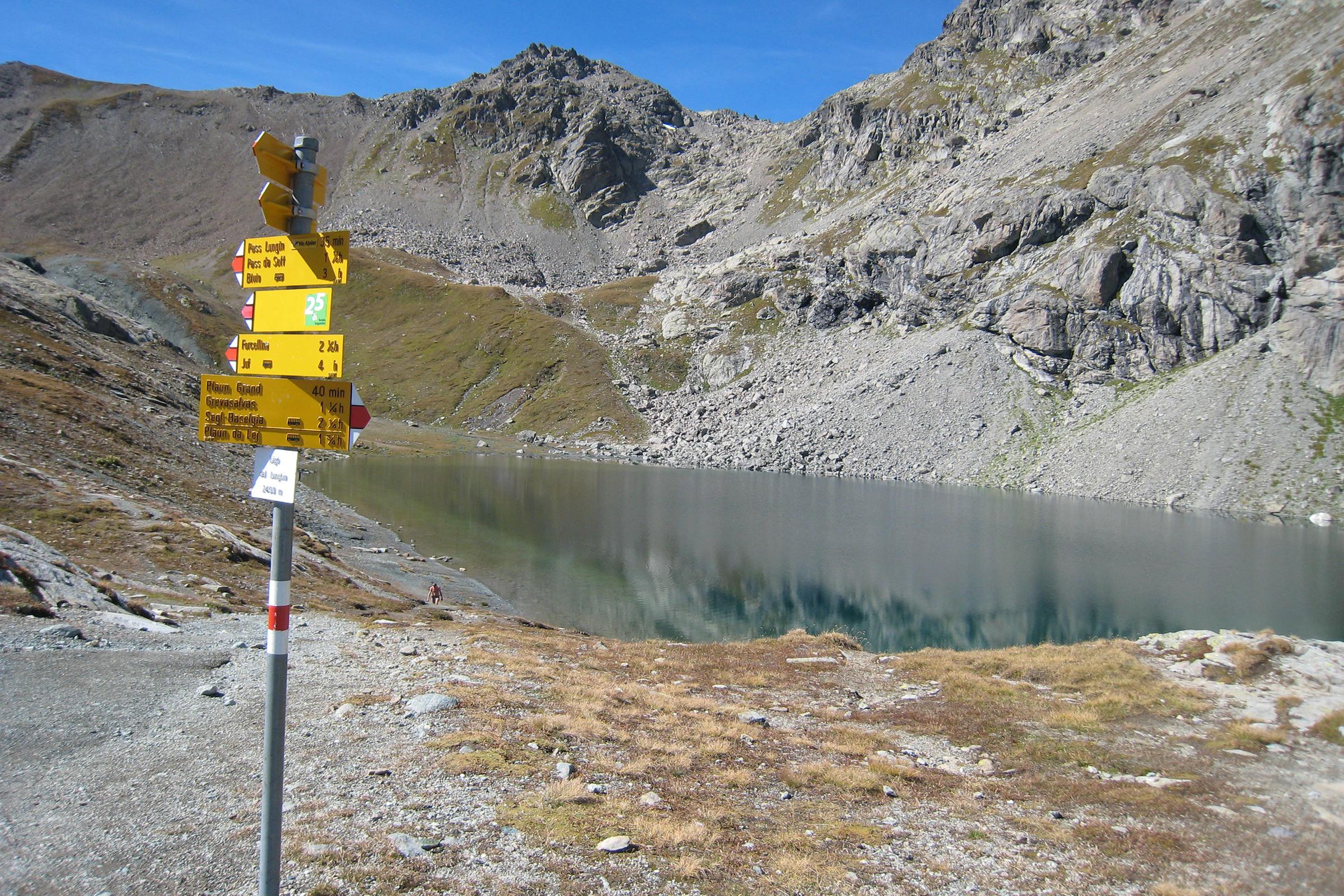 Maloja - Wasserscheide Lunghin - Casaccia