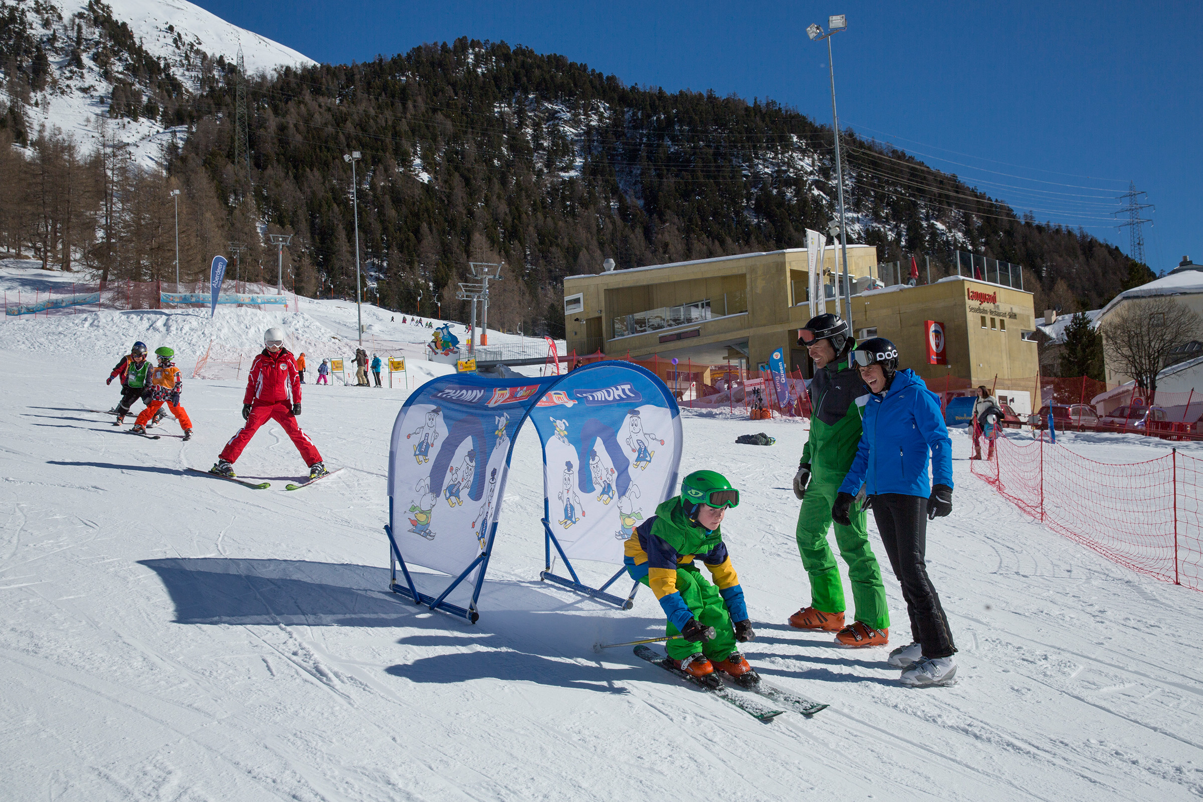 Familien-Skigebiet Languard, Pontresina