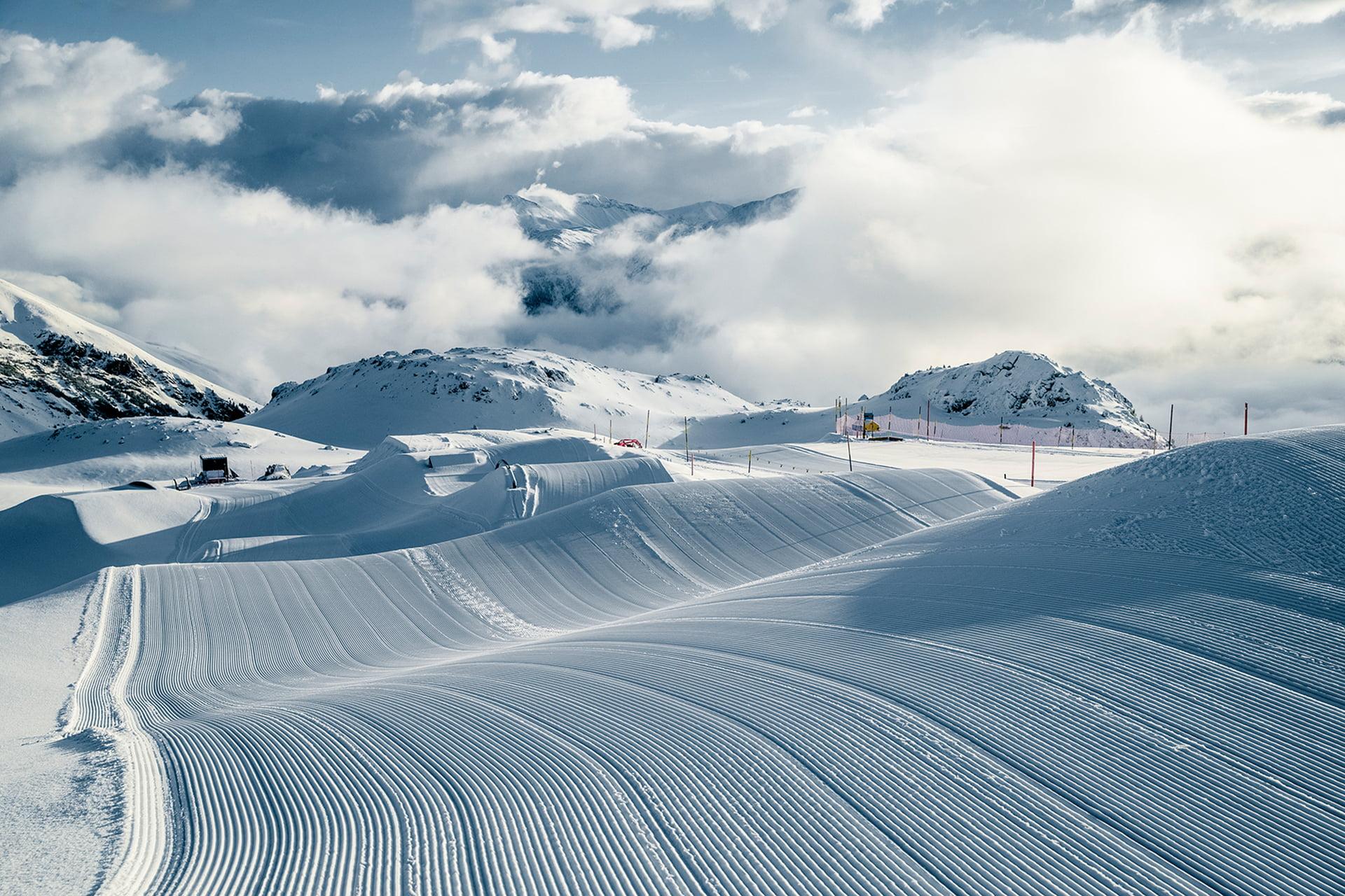 Ski Slope Report Corviglia Winter In Engadin St Moritz