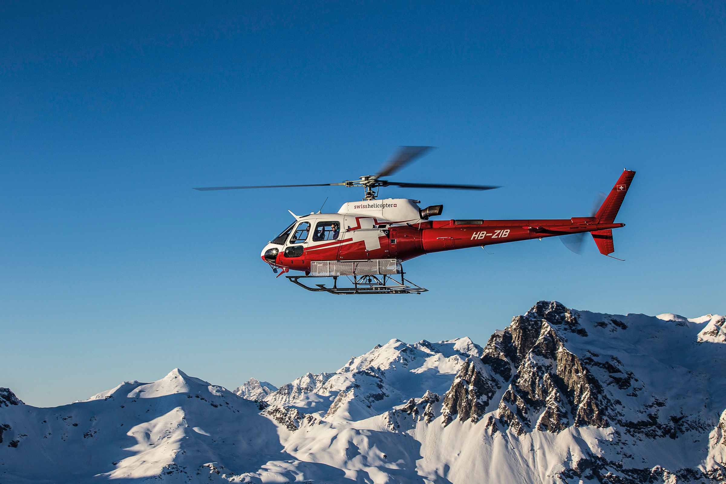 Engadin helicopter flights