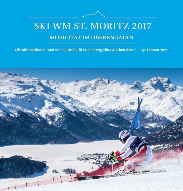 Mobilität im Oberengadin während der Ski WM 2017 Slide 1