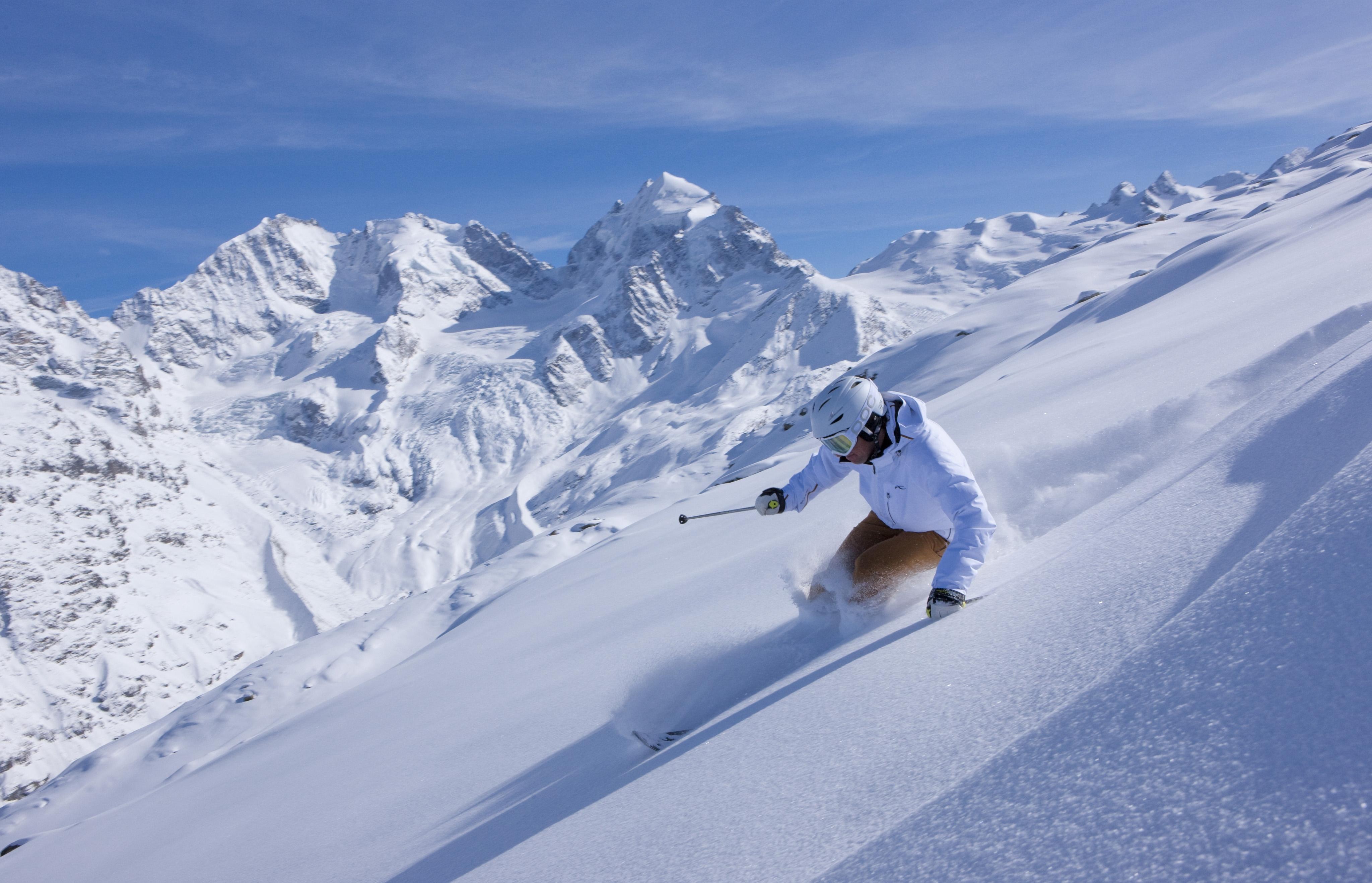 Frühlingsskifahren in St. Moritz Slide 1