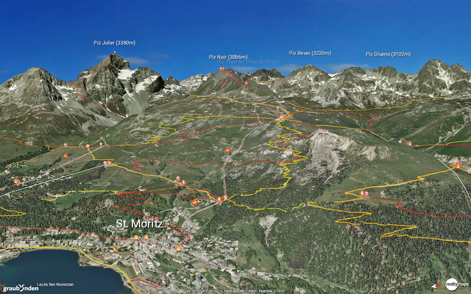 Sommerversion der fotorealistischen 3D-Karten-App Slide 1