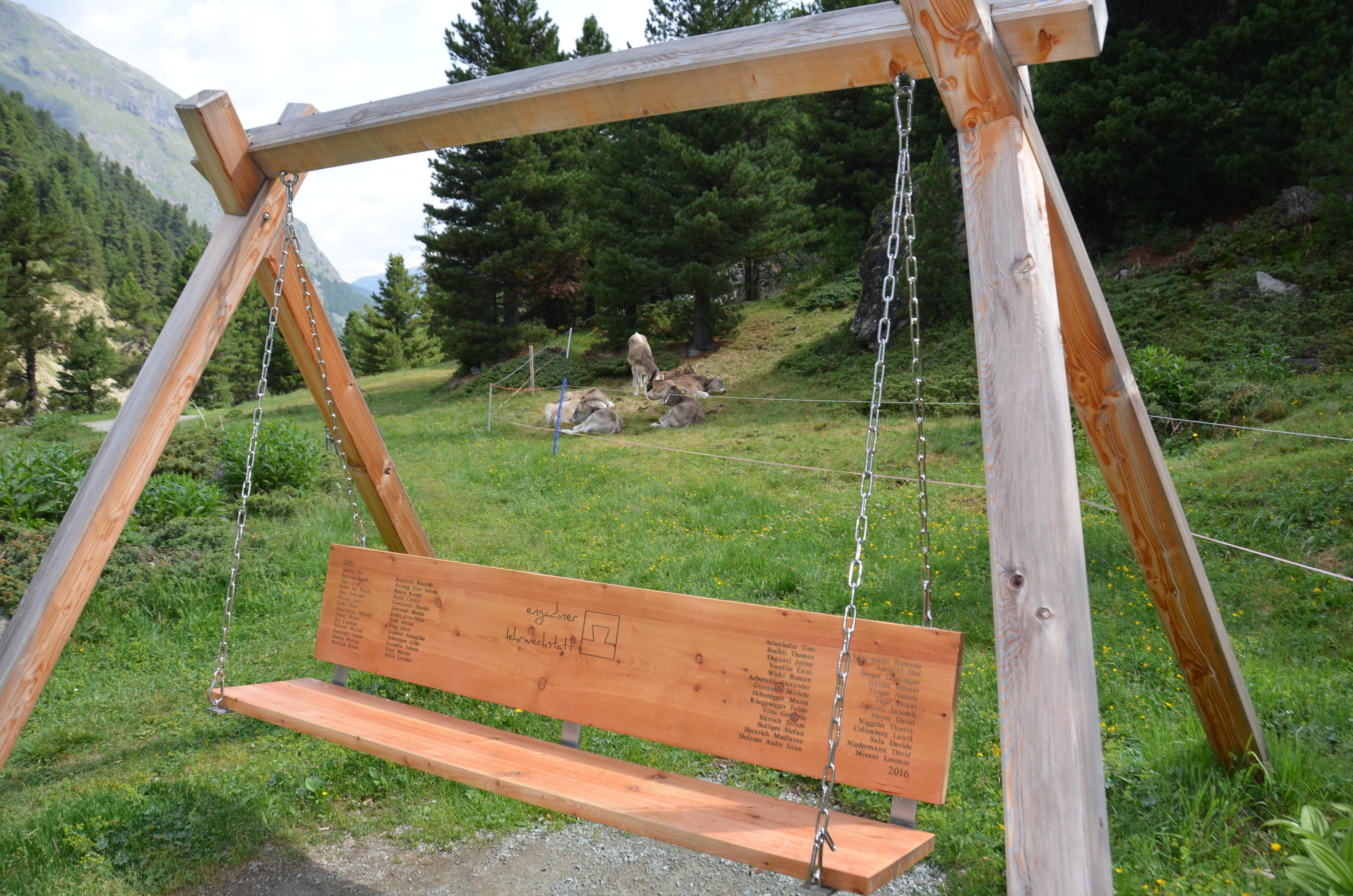 Sitzbank Val Roseg Slide 10
