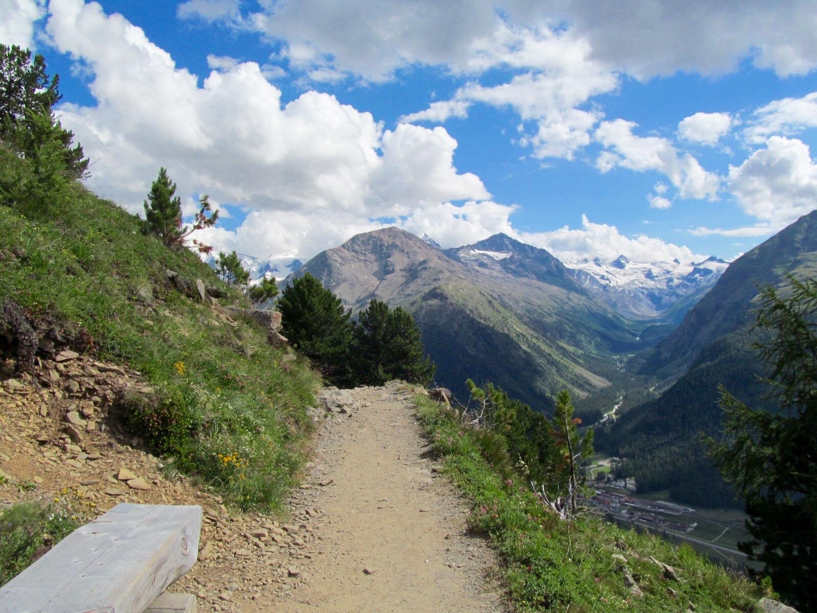 Sitzbänke Panoramaweg Muottas-Muragl - Alp Languard Slide 3