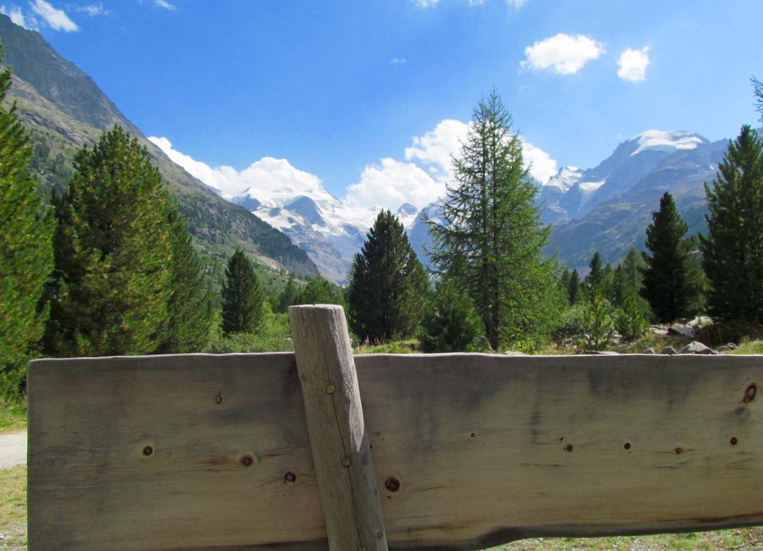 Seat bench Glacier walk Morteratsch Slide 3