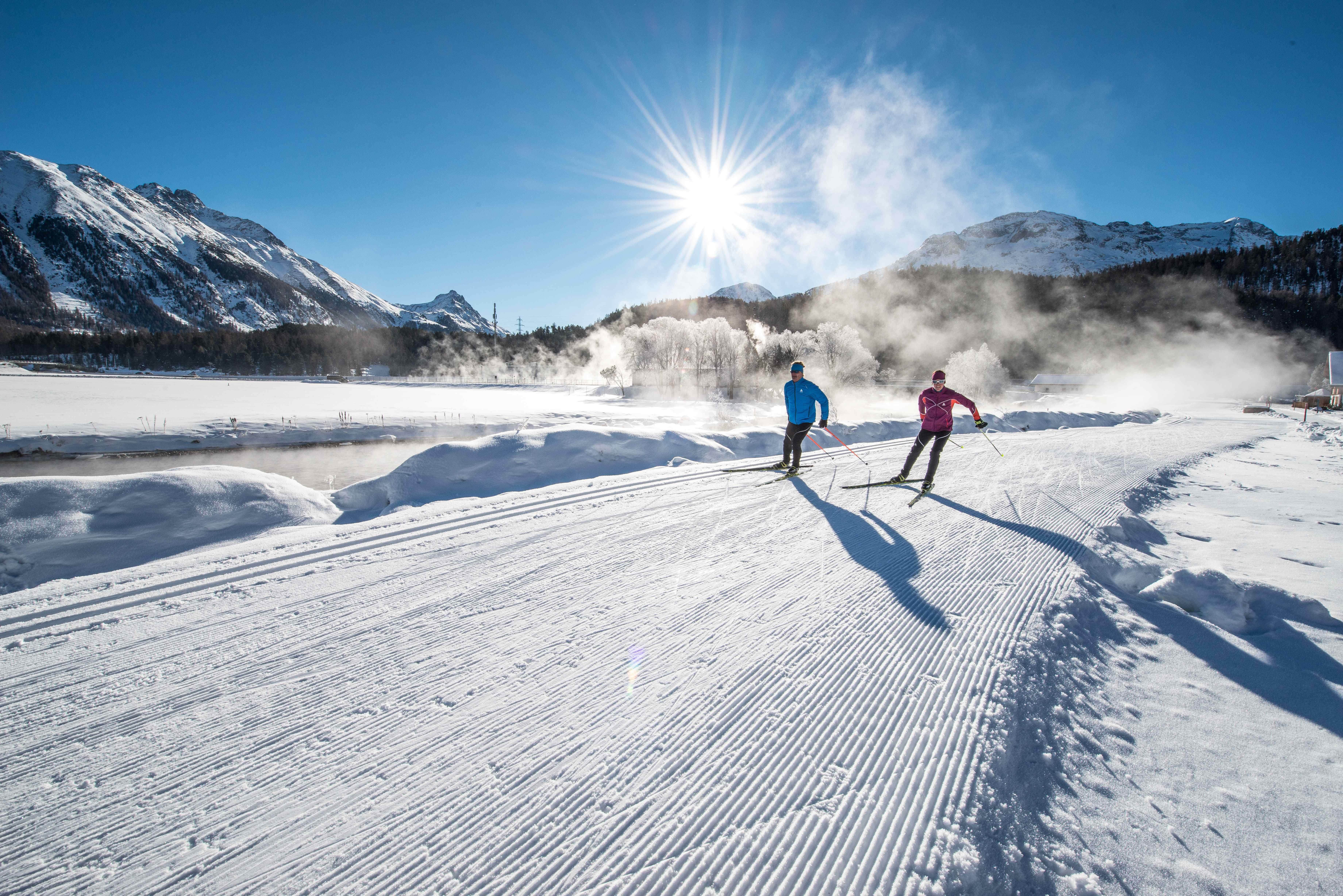 Cross-country ski rental stations