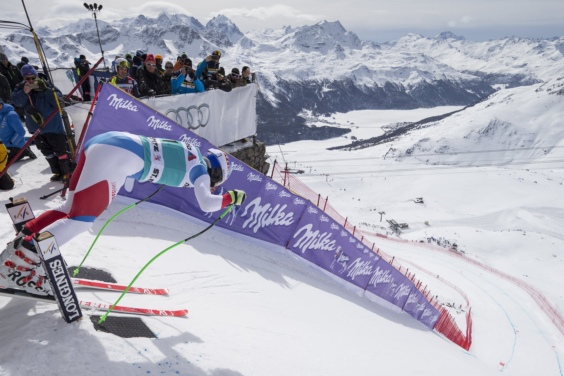 Free Fall Presented By Audi Winter In Engadin St Moritz