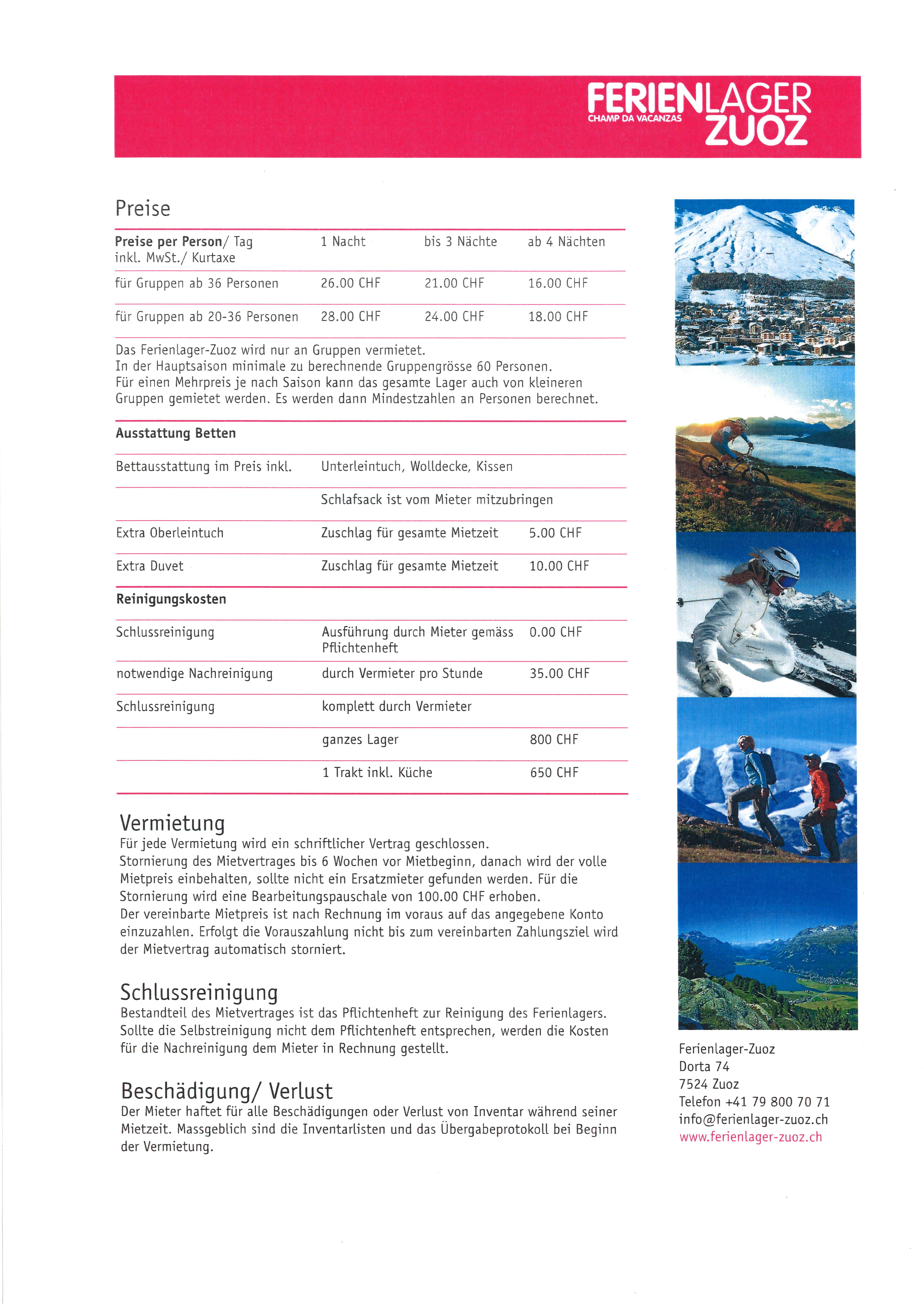 Ferienlager Zuoz Slide 5