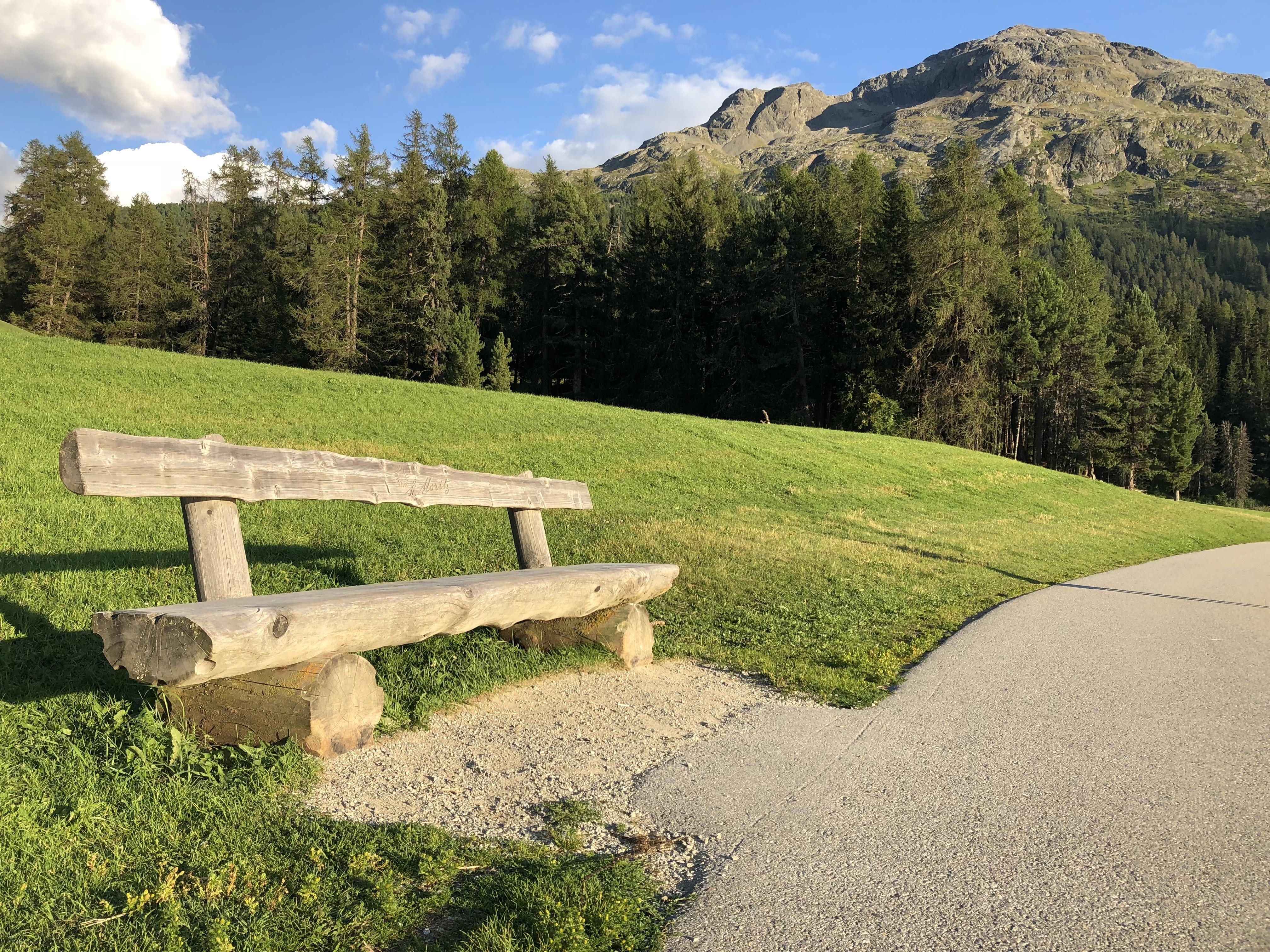 Sitzbank St. Moritzersee - Ostseite Slide 1