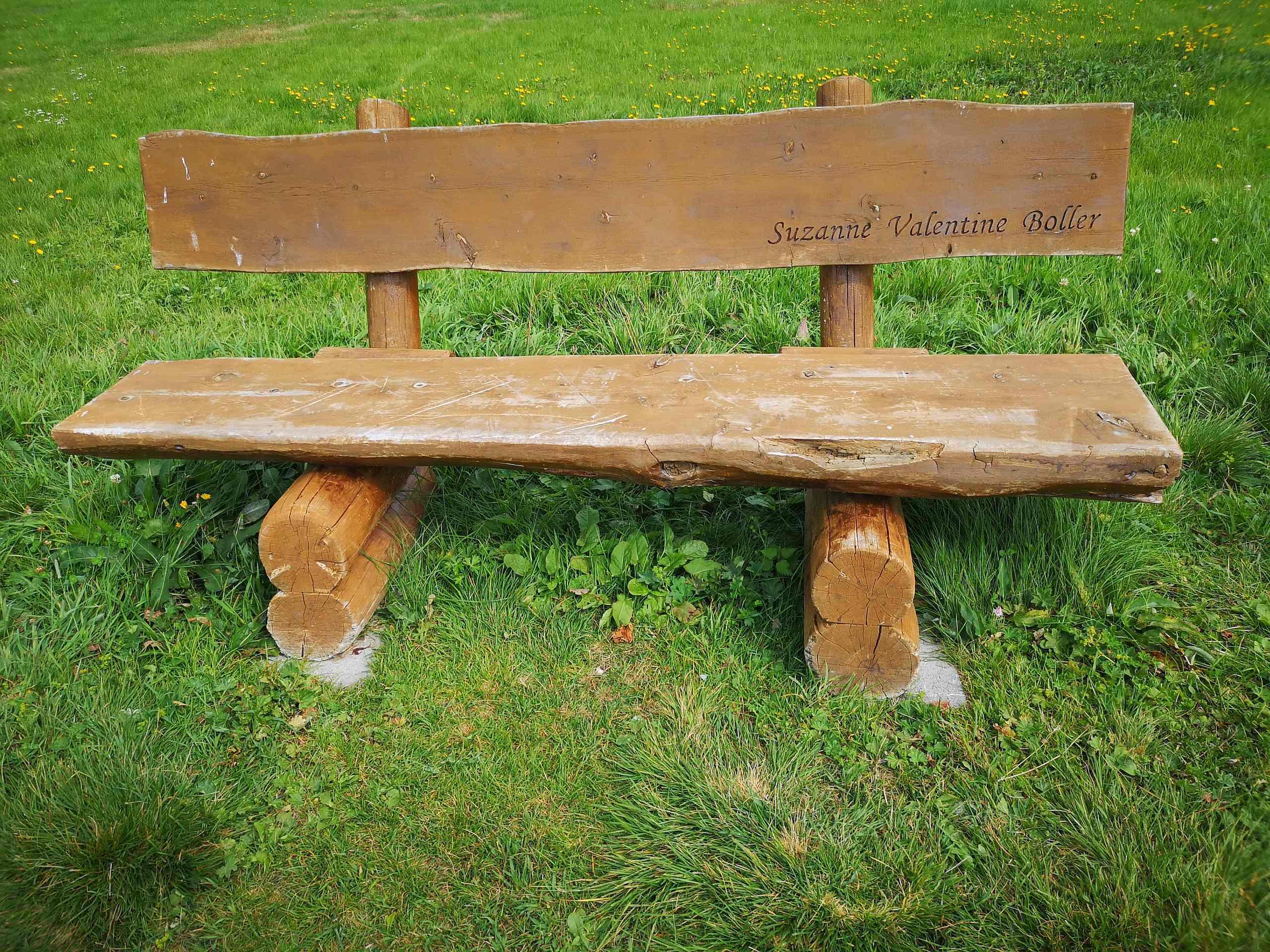 Sitzbänkli auf der Silser Ebene Slide 2