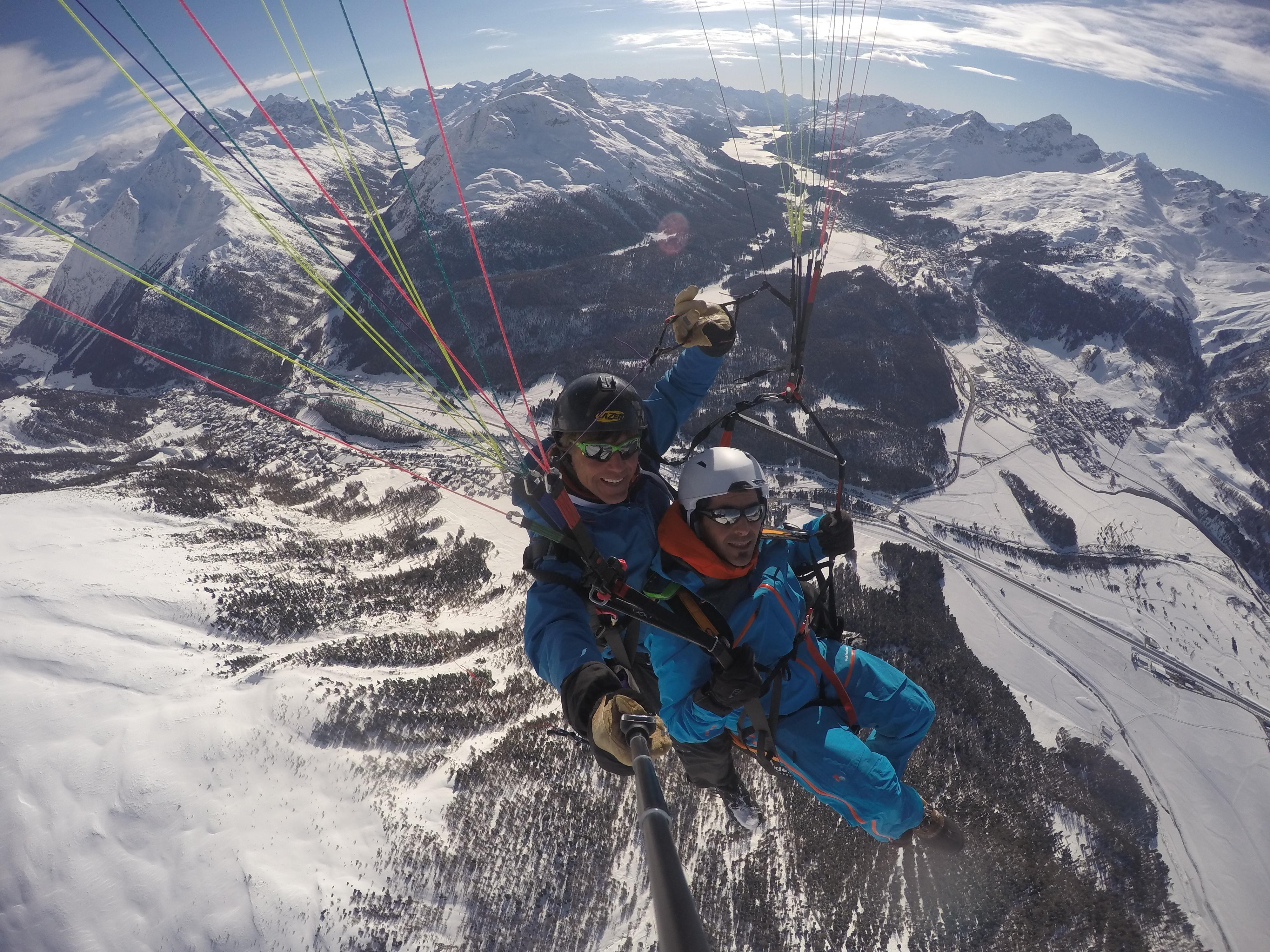 Gleitschirmfliegen/Segeln/Snowkiten mit Passagieren Slide 4