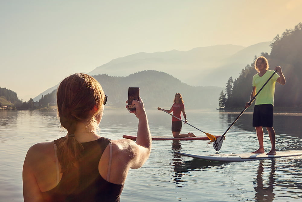 SUP at Lake St. Moritz