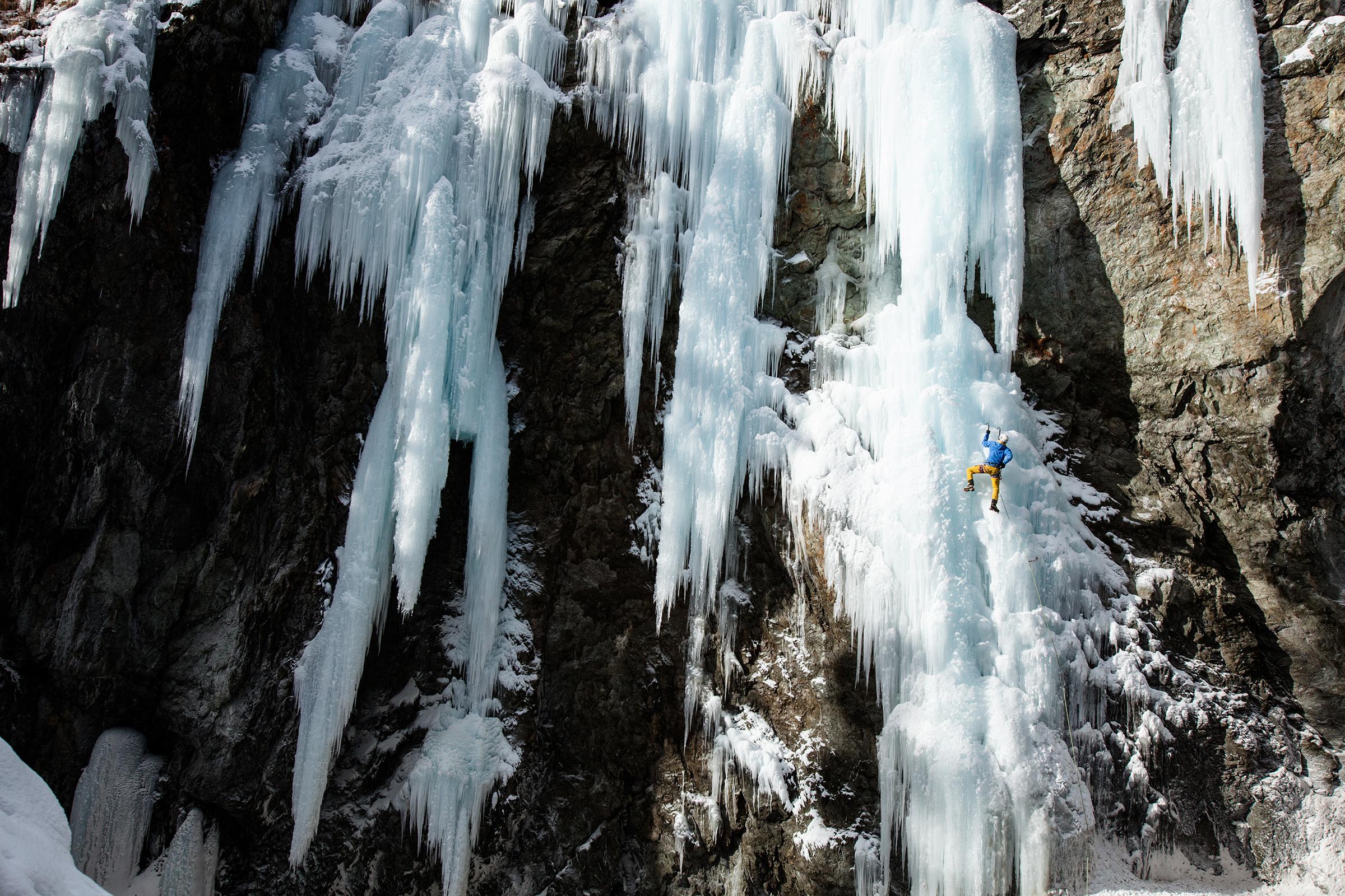Eisklettern Berninaschlucht