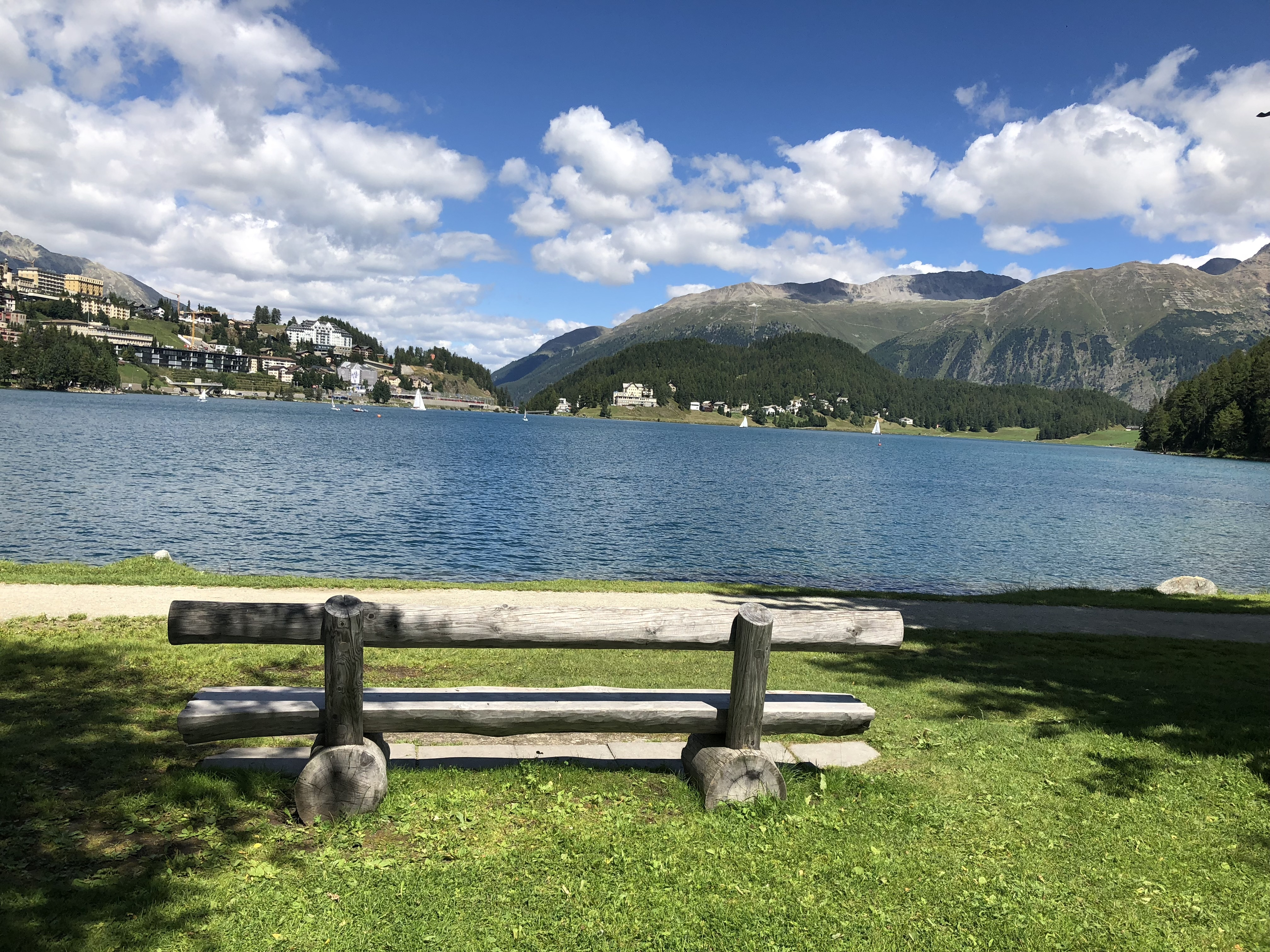 Bench, St. Moritz Lake - Westside Slide 1