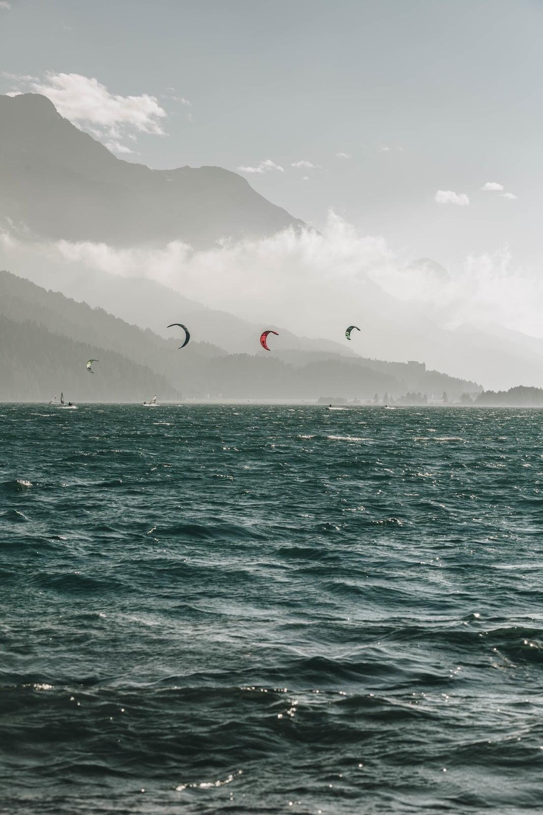 Kitesurfing Silvaplana
