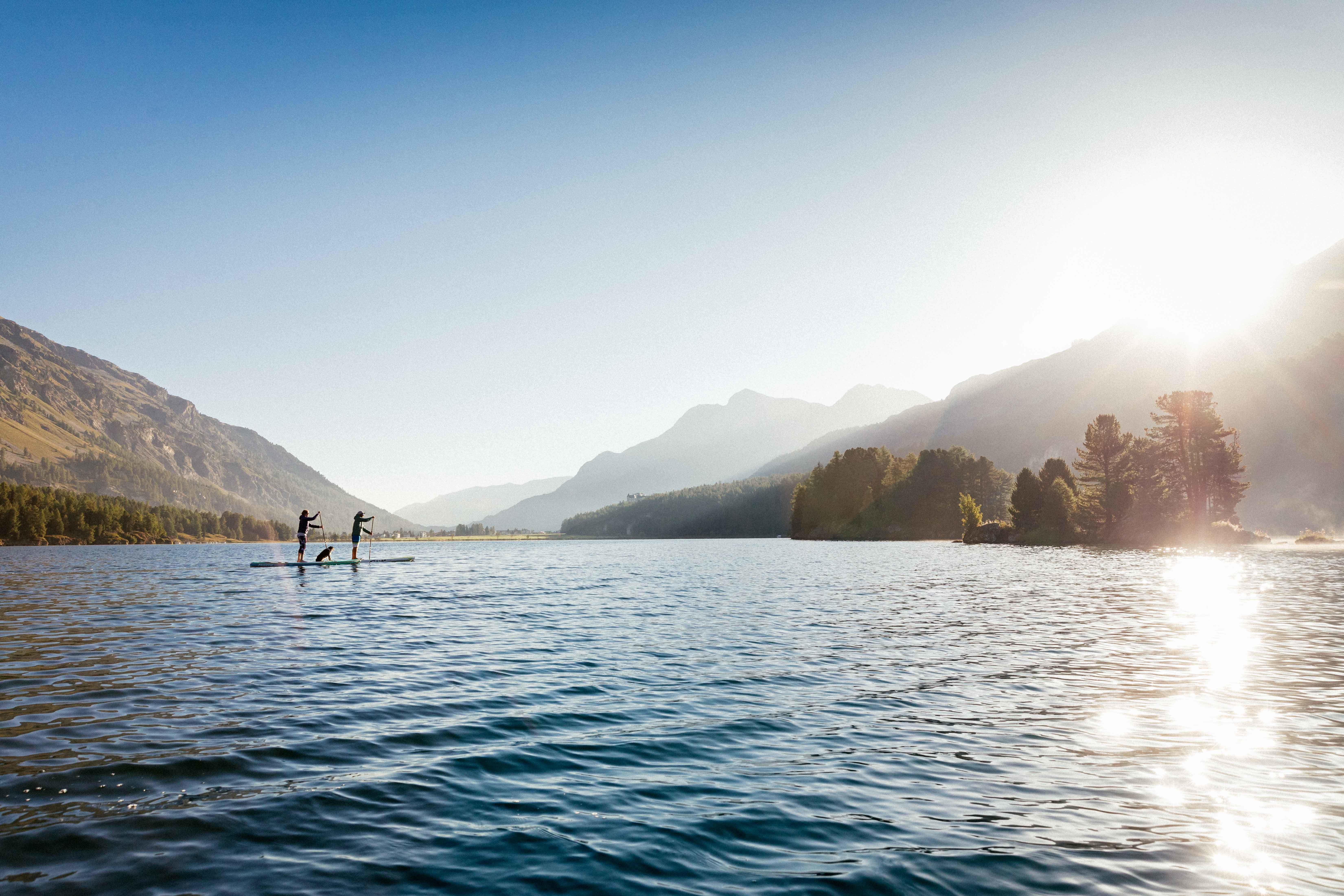Stand up paddling in stunning scenery