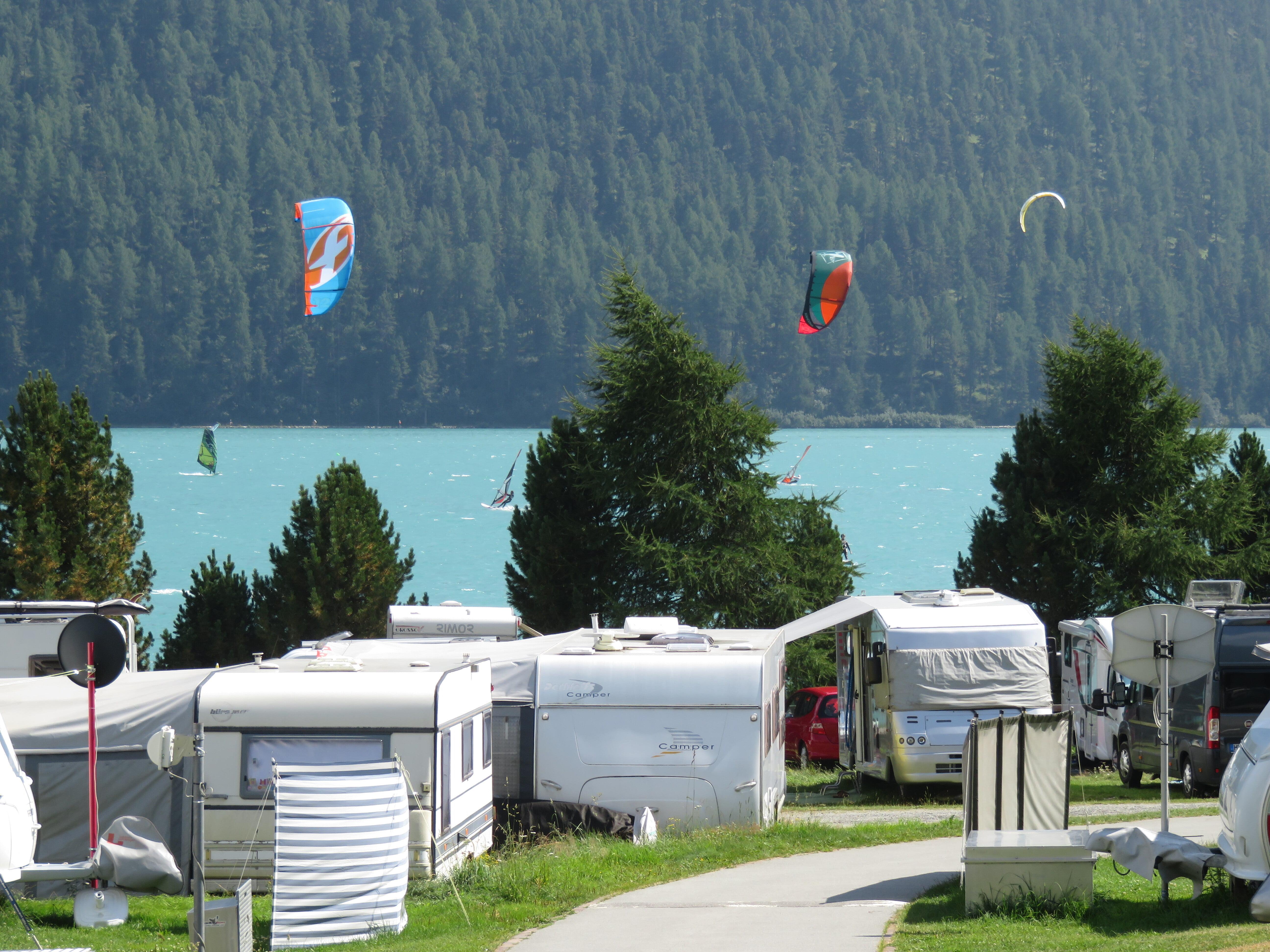 Camping in Silvaplana