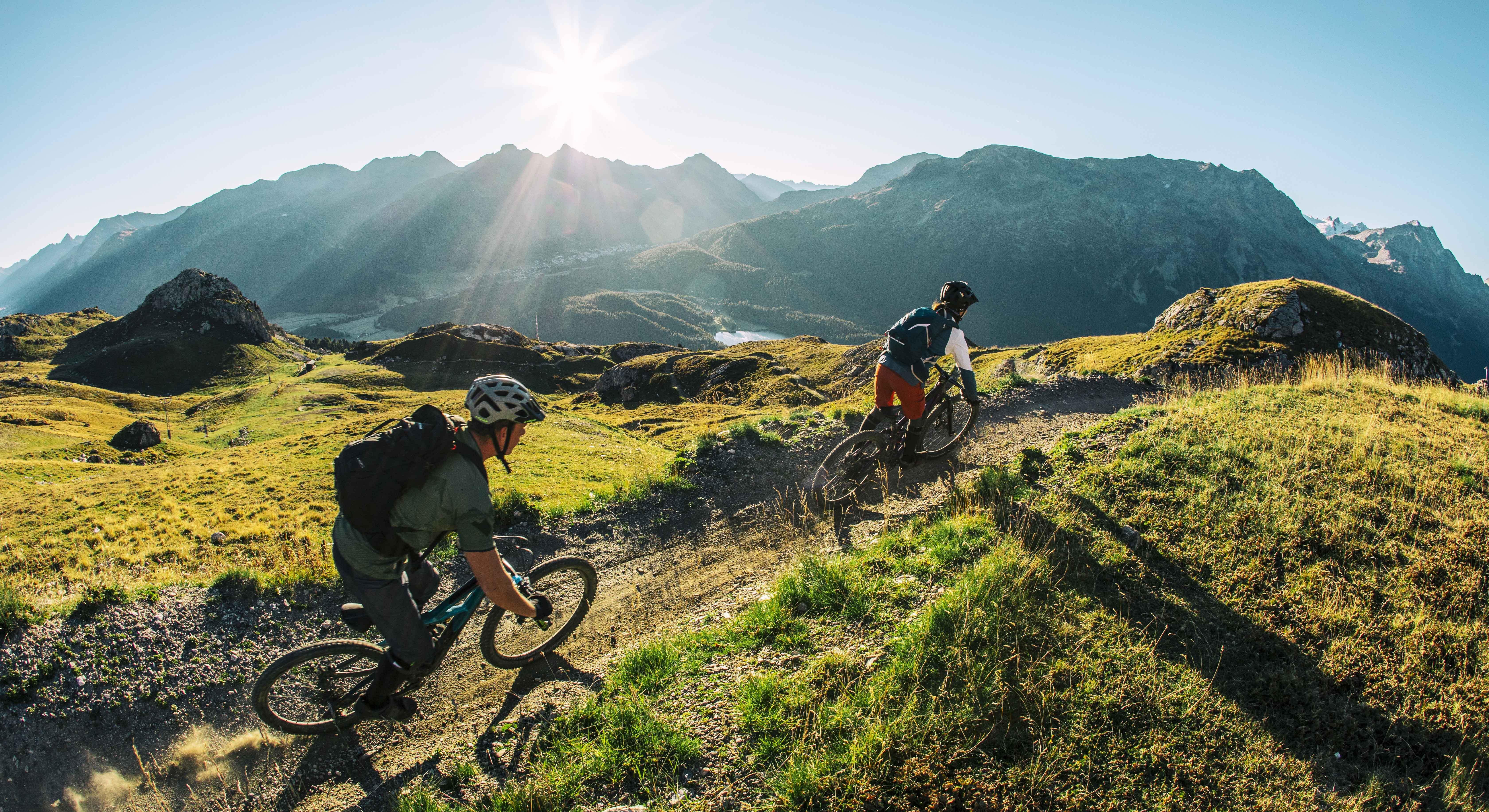 Flow Trails auf Corviglia / Piz Nair