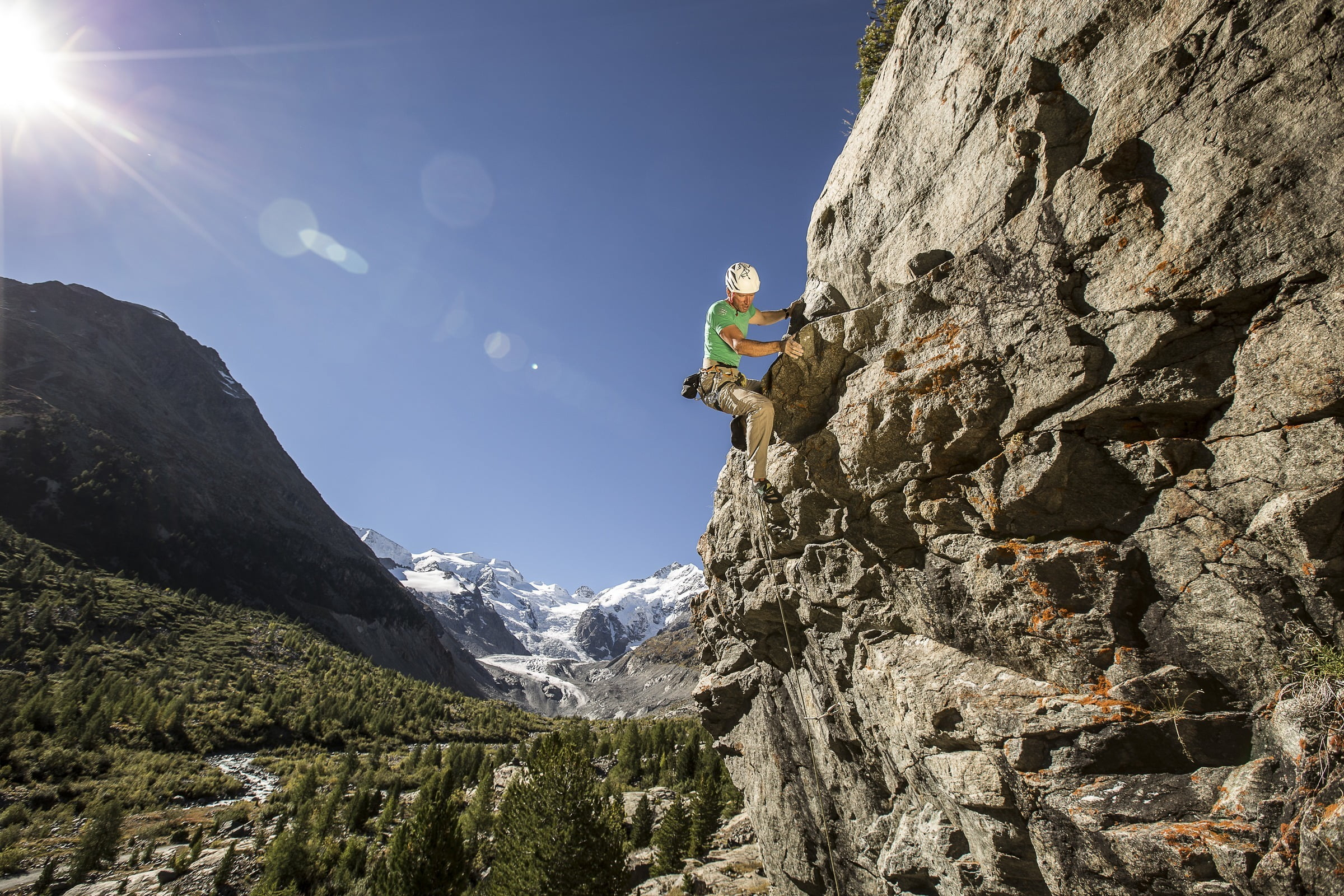 Climbing in a spectacular setting
