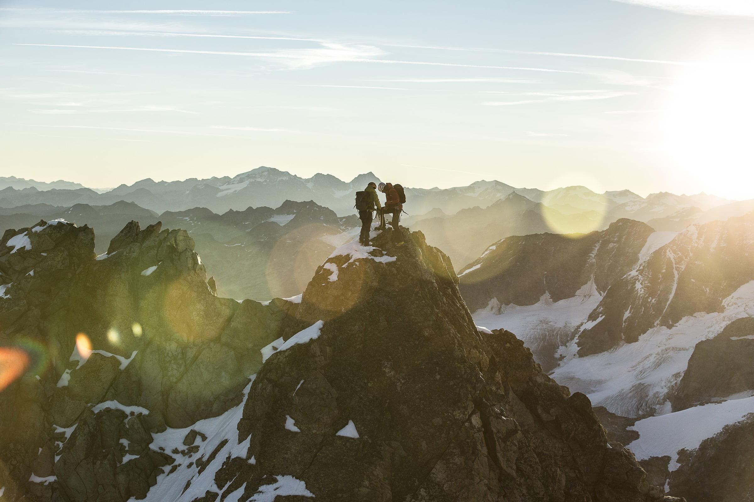 Climbing Piz Bernina 4049 m
