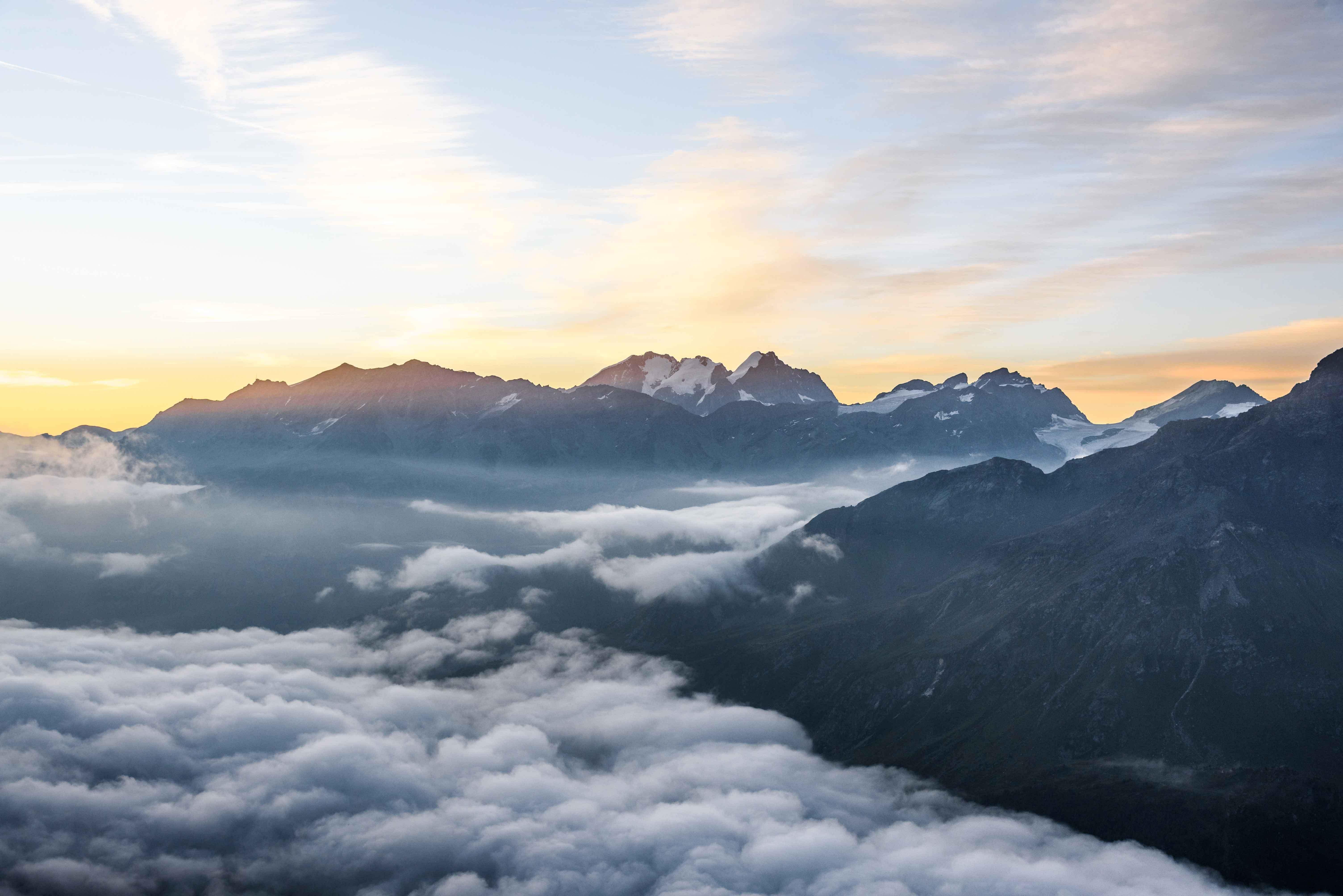 View over Piz Bernina